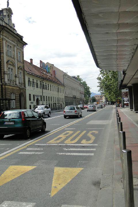 Lublana. Buspasy są na wszystkich głównych ulicach