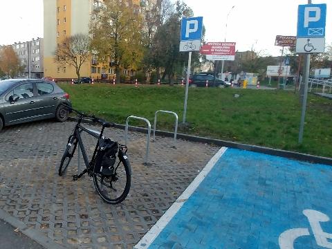 Radom, Domaglaskiego, rowerem na zkupy