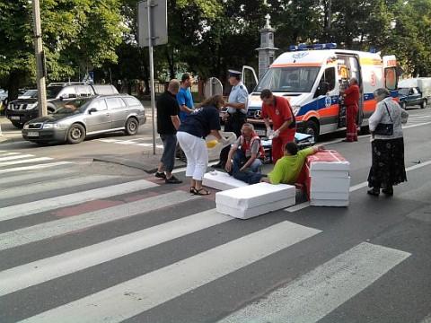 Radom. Potrącenie pieszego na ul. Limanowskiego przy stacji Krwiodawstwa