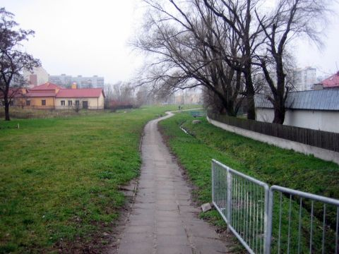Radom, osiedle Ustronie. Miejsce planowanej dorgi dla rowerów. Place of the bike path planning
