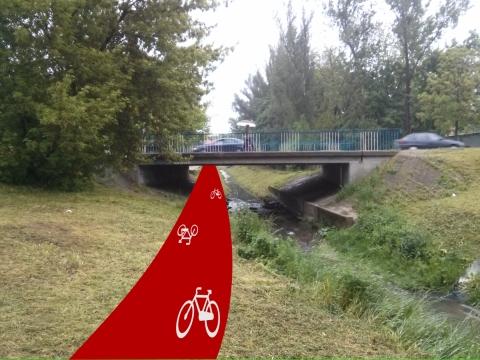 Radom. Przejazd rowerowy pod mostem na ul. Chrobrego