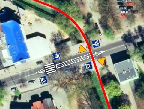 Radom. Przejazd rowerowy przez ulicę Struga