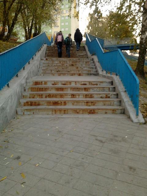 Radom. Kładka dla pieszych nad ulicą Jana Pawła