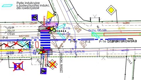 Radom. Starokrakowska pętle indukcyjne dla rowerzystów