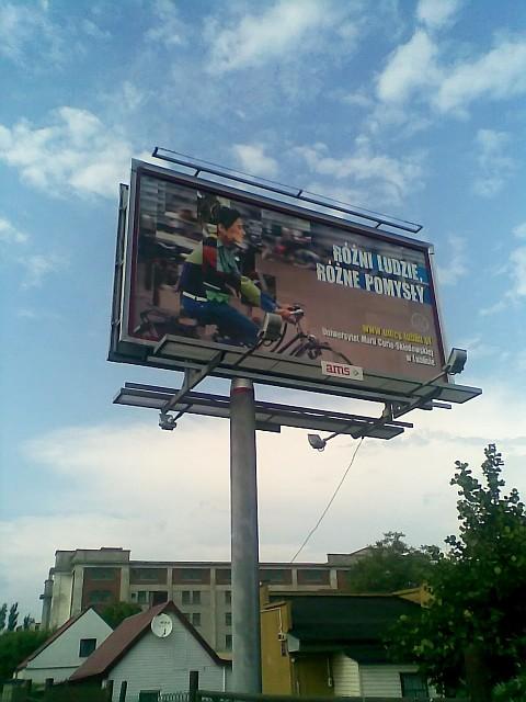 lubelski UMCS reklamuje się przez rower - Radom, ul. Wierzbicka