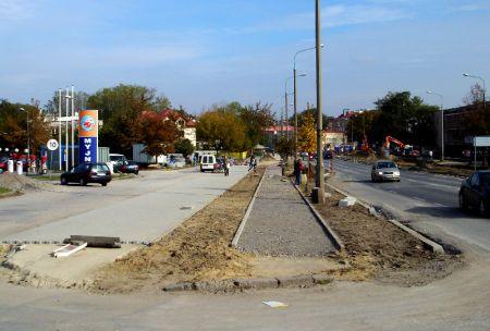 Radom. Budowa drogi rowerowej w ul. 1905 Roku