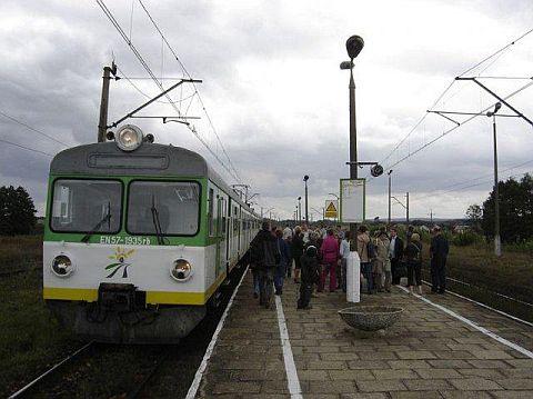 Stacja kolejowa Drzewica.