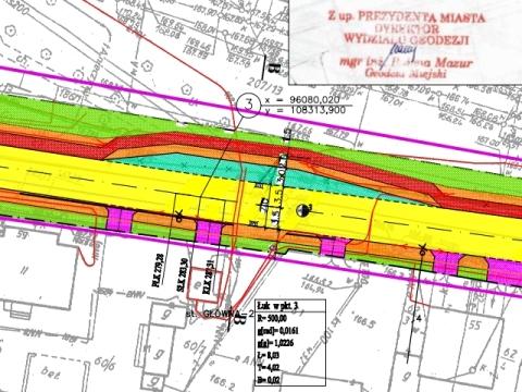 Radom.  Projekt drogi rowerowej na ul. Głównej
