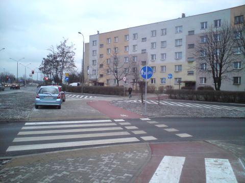 Radom. Asfaltowa droga rowerowa w al. Grzecznarowskiego