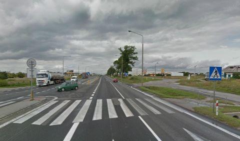 Wsola. Skrzyżowanie Warszawska/Ceglana/Kwiatowa. Źródło: Google z funkcją Street View