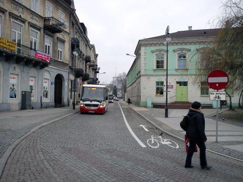 Radom. Kontrapas na ulicy Traugutta