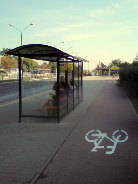 Radom. Nowa malowanka na drodze rowerowej w al. Grzecznarowskiego