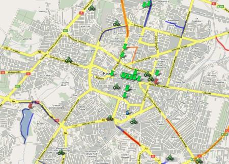 Mapa rowerowa Radomia