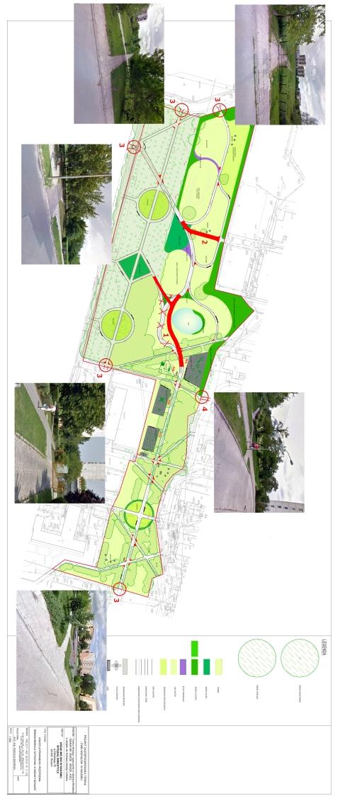 Radom. Plan parku Michałów