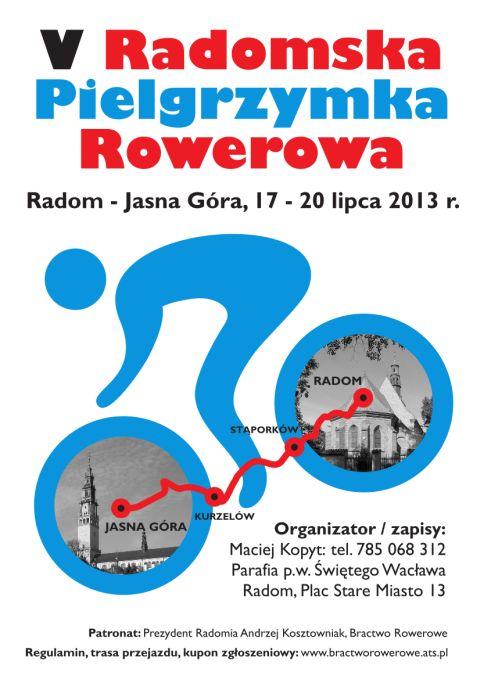 Radom. Pielgrzymka rowerowa do Częstochowy