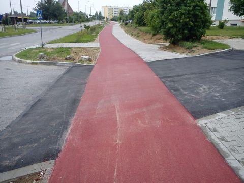 Wyniesiony przejazd rowerowy i przejście dla pieszych