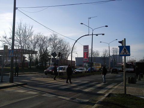Radom. Sygnał w postaci sylwetki pieszego na skrzyżowanu plac Kotlarza