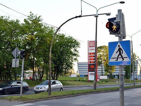 Radom. Nowe sygnalizatory na skrzyżowaniu Poniatowskiego/Traugutta
