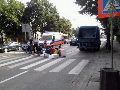 Radom, Limanowskiego/Przechodnia. Potrącenie pieszego na przejściu.
