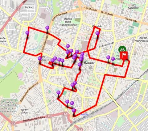 Radom. Przejazd rowerowy z Gazetą Wyborczą