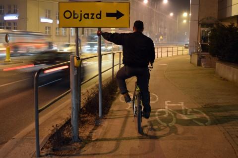 Radom, ul. 1905 Roku skrajnia droga rowerowa