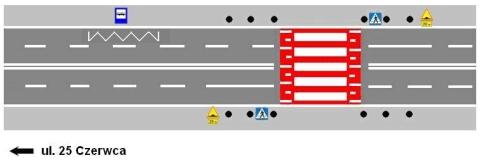 Radom. Ul. Słowackiego - poprawa bezpieczeństwa pieszych