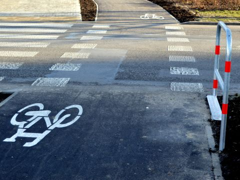 Radom. Droga dla rowerów na Ustroniu