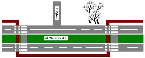 Radom. 'Bezpieczna' droga rowerowa w ul. Warszawskiej