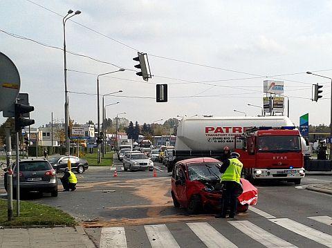 Radom. Wypadek na skrzyżowaniu Wernera / Mireckiego / Szarych Szeregów